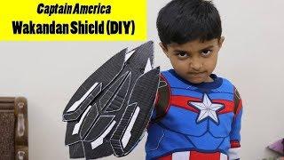 How to make Captain America's Wakandan Shield out of cardboard   DIY