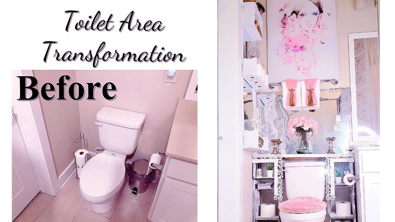 Diy Toilet Area Transformation Luxury Home Decor Ideas