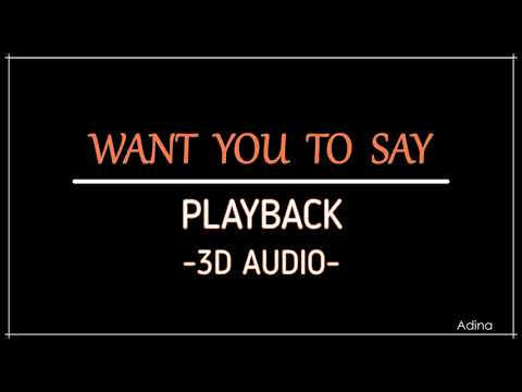 WANT YOU TO SAY - PLAYBACK (3D Audio)