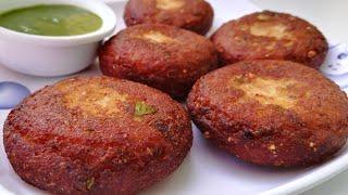 बाजार जैसी कुरकुरी आलू टिक्की घर पर आसानी से बनाये | Crispy Aloo Tikki Recipe in Hindi