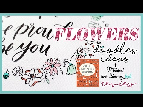 FLOWERS Doodles IDEAS + Botanical line drawing RECENSIONE   Qualcosa di Erre