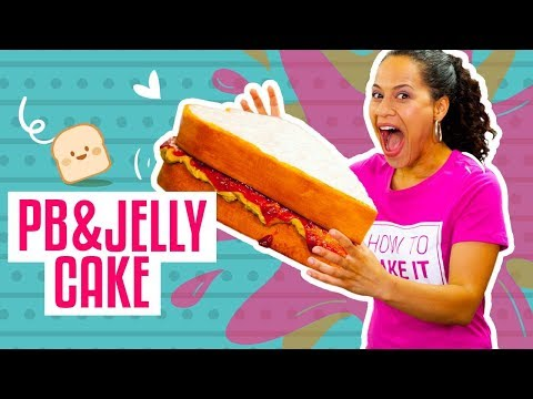 How To Make A MASSIVE PEANUT BUTTER & JELLY SANDWICH Out Of CAKE   Yolanda Gampp   How To Cake It