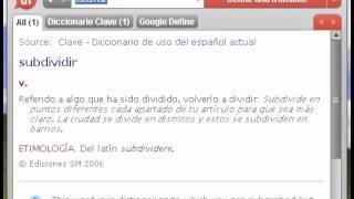 Definición de subdividir