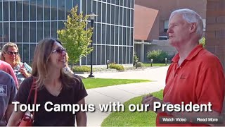 RIT Campus Tour: President Emeritus Serves as Your Guide