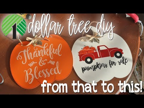 🍁 DOLLAR STORE DIY | FALL RED TRUCK DIY DOLLAR TREE SIGN 🍁