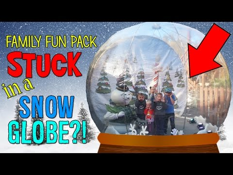 KIDS STUCK IN A GIANT SNOW GLOBE IN DOLLYWOOD!!