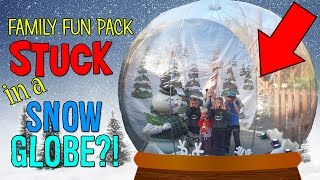 STUCK IN A GIANT SNOW GLOBE IN DOLLYWOOD!!