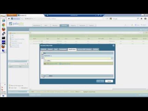 Palo Alto Firewall -  Web Interface Administration