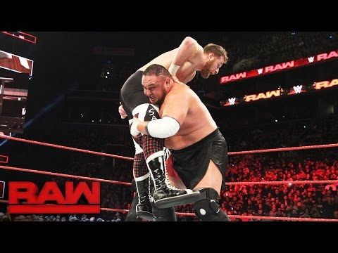 Sami Zayn vs. Samoa Joe: Raw, March 20, 2017