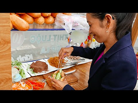 Vietnam Street Food - BANH MI SANDWICH COMPILATION (Can Tho)