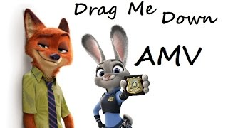 Nick&Judy~Drag Me Down AMV (Zootopia)