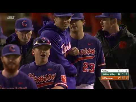 Clemson Baseball || William & Mary Game Highlights - 2/17/18