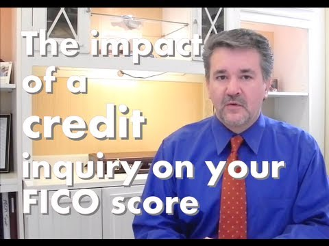 How long will a hard credit inquiry impact your FICO® score? 2017 Information!