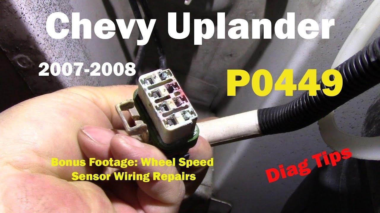 medium resolution of chevy uplander p0449 diagnostic information