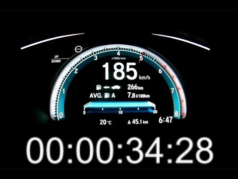 Honda Civic 1.0 VTEC Turbo 129 PS acceleration 0-180 km/h