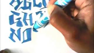 draw graffiti characters tek style