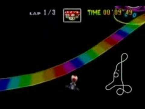 Mario Kart 64 Rainbow Road Shortcut