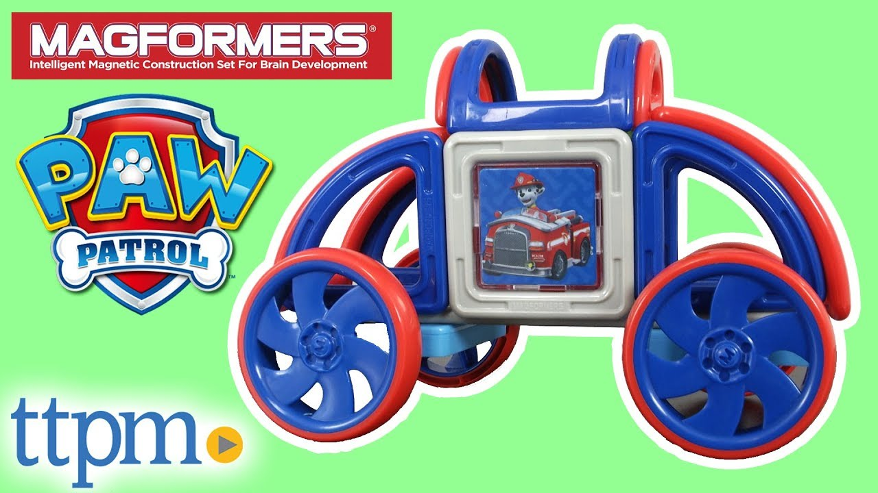 Magformers Paw Patrol 19 Piece On A Roll Vehicle Magnetic Construction Set from Magformers