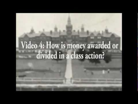 Video 4: How money is awarded or divided in a class action