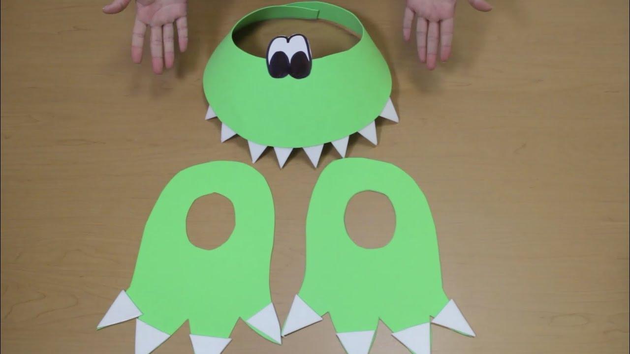 Como hacer un disfraz de dinosaurio. - YouTube