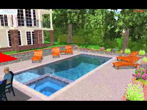 rectangular pool with spaavi - Rectangle Pool With Spa