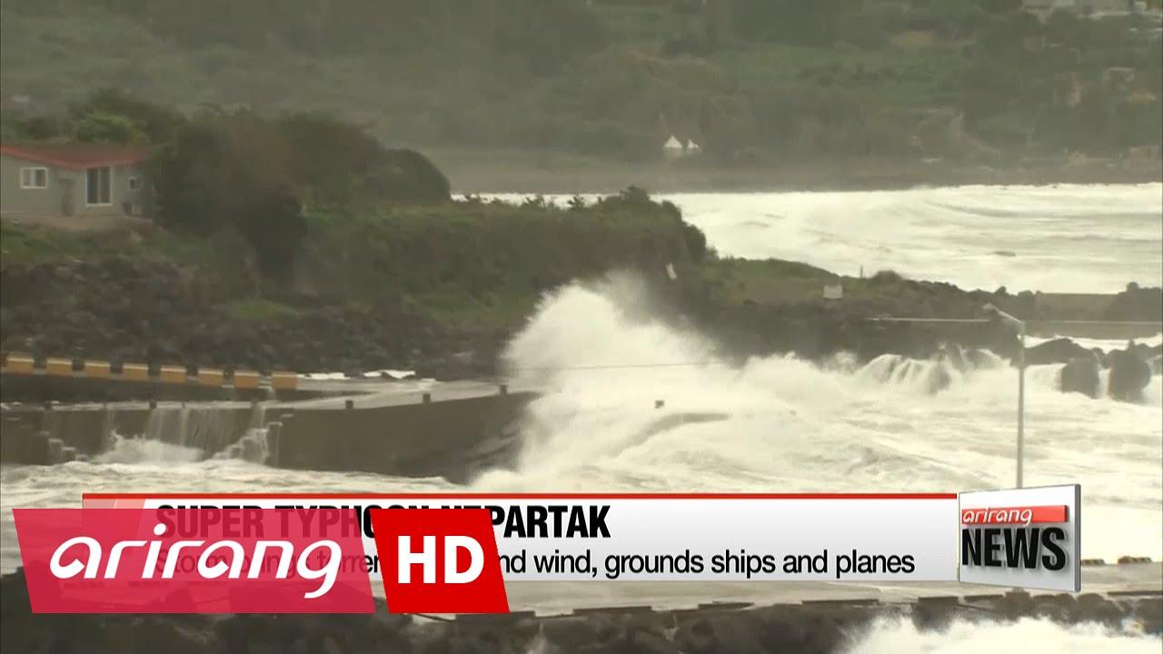 Super Typhoon Nepartak makes landfall in Taiwan