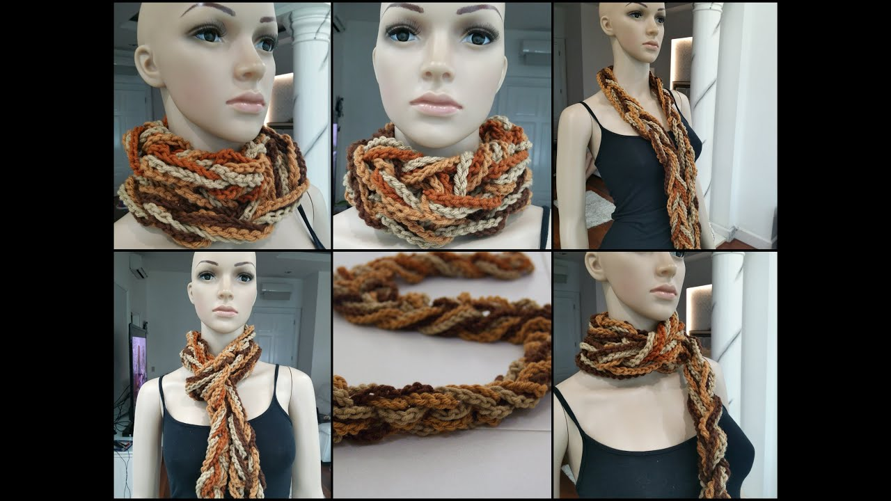 How To Crochet Scarf Tutorial Pattern 1 Easy Scarf Chain Only