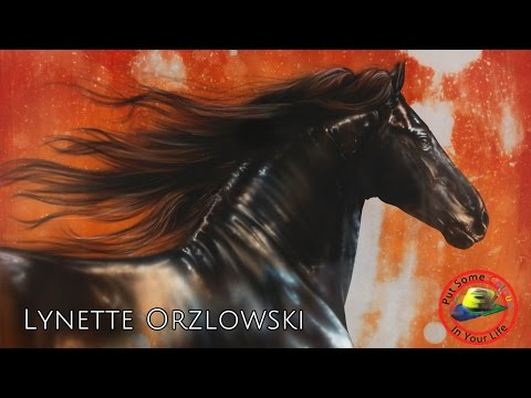 Fine Art Show with Lynette Orzlowski and her amazing airbrushed horses on Colour In Your Life