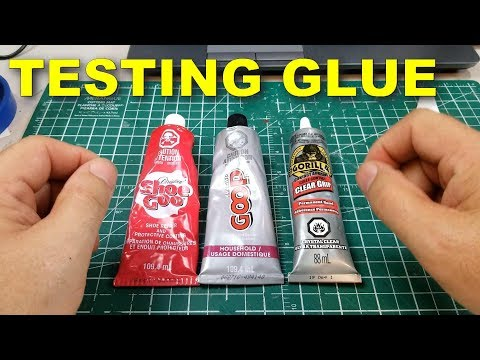 Testing glue SHOE GOO, GOOP, Gorilla clear glue