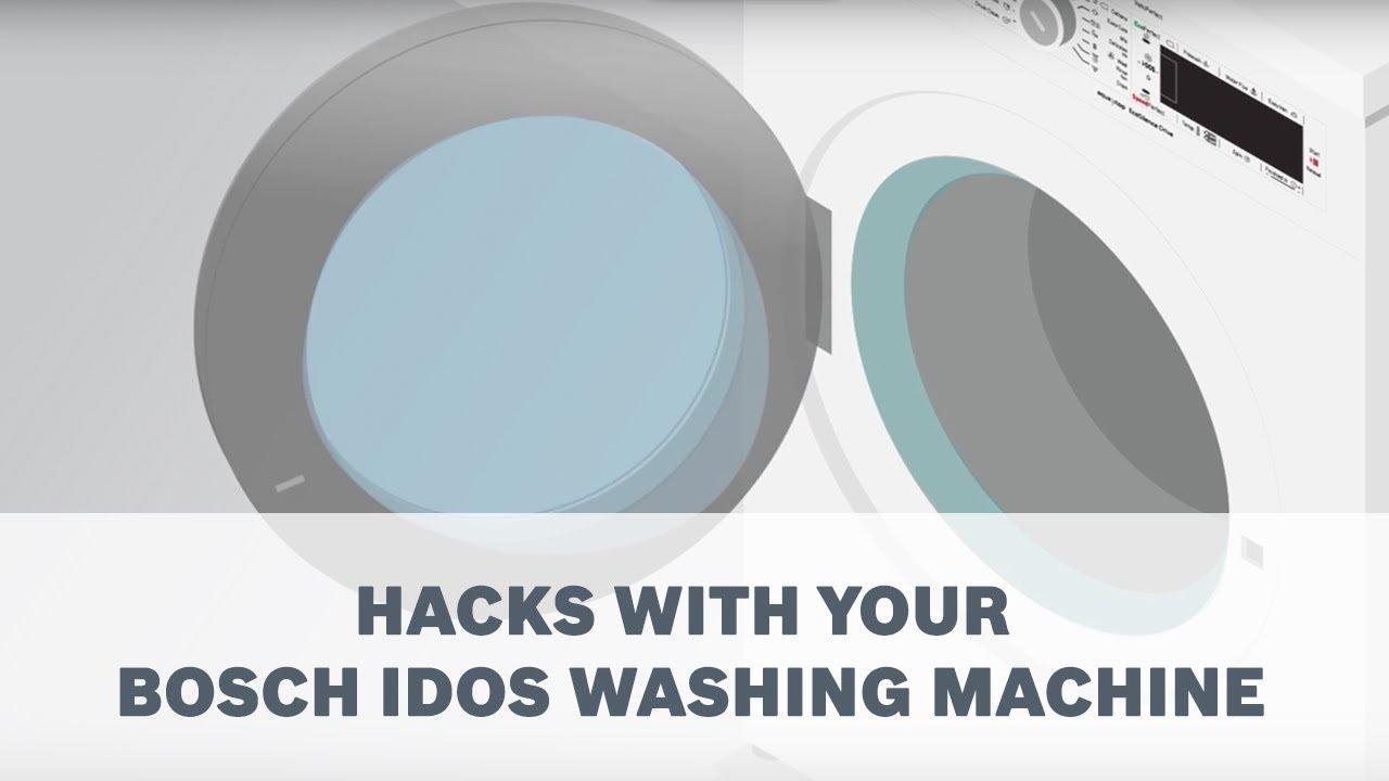 Hacks With Your Bosch Idos Washing Machine Youtube