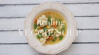 SUMMER VEGGIE SOUP  - vegan, grandmas recipe