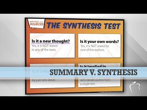 Summary V. Synthesis: What's The Difference?