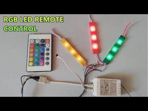 Download RGB SMD LED IR Remote control // 24 Key function // part-3