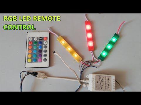 RGB SMD LED IR Remote control   24 Key function   part-3 - YouTube