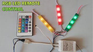RGB SMD LED IR Remote control // 24 Key function // part-3