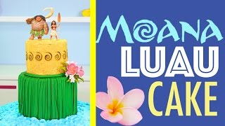Princess MOANA Cake - How to make a Hawaiian Luau Beach Cake | Disney Princesses
