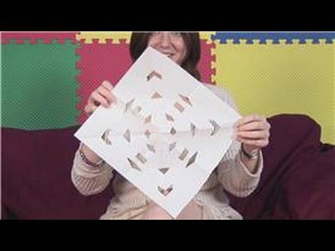 Paper Crafts for Children : How to Make a Snowflake Out of Construction Paper