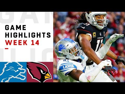 Lions vs Cardinals Week 14 Highlights  NFL 2018