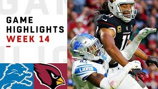 Lions vs. Cardinals Week 14 Highlights