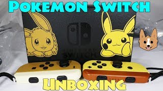 Let's Go Eevee Pikachu Pokemon Nintendo Switch Console Bundle Set Pokeball Plus Unboxing