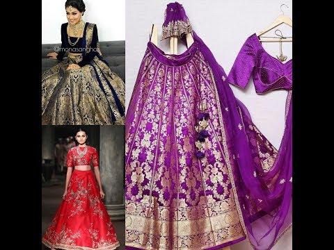 Brocade Lehenga Choli Designs || Party wear silk lehng