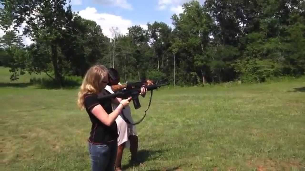 Shooting the WASR-10 AK-47 - Girls Shooting Guns - YouTube