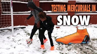 TESTING NEW MERCURIALS IN THE SNOW!!