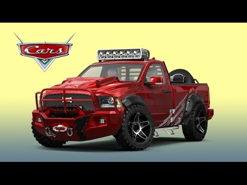 super car tuning feat disney cars dodge ram 1500 truck. Black Bedroom Furniture Sets. Home Design Ideas