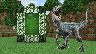 Como Hacer Un Portal A La Dimension De Los Dinosaurios - Minecraft Portales