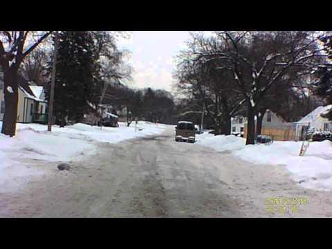 Driving on I 75 near Detroit, Michigan  Winter Feb 2014.