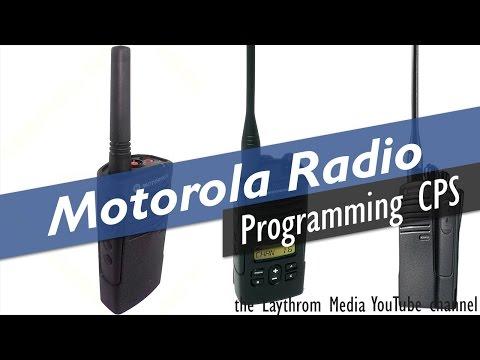 Programming Motorola RDX Radios via CPS