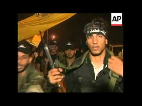 Palestinians celebrate Israel troops' withdrawal
