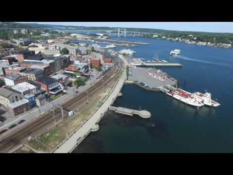 New London Waterfront Drone Tour