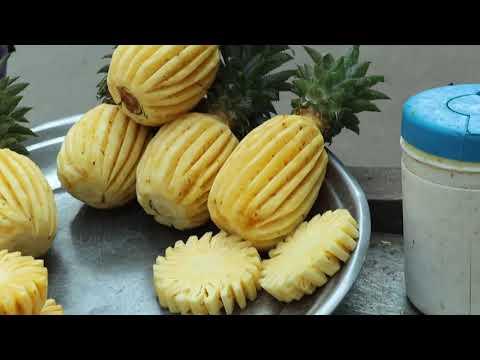 Amazing pineapple cutting tricks - Different Style of Pineapple Cutting - How to cut Pineapple